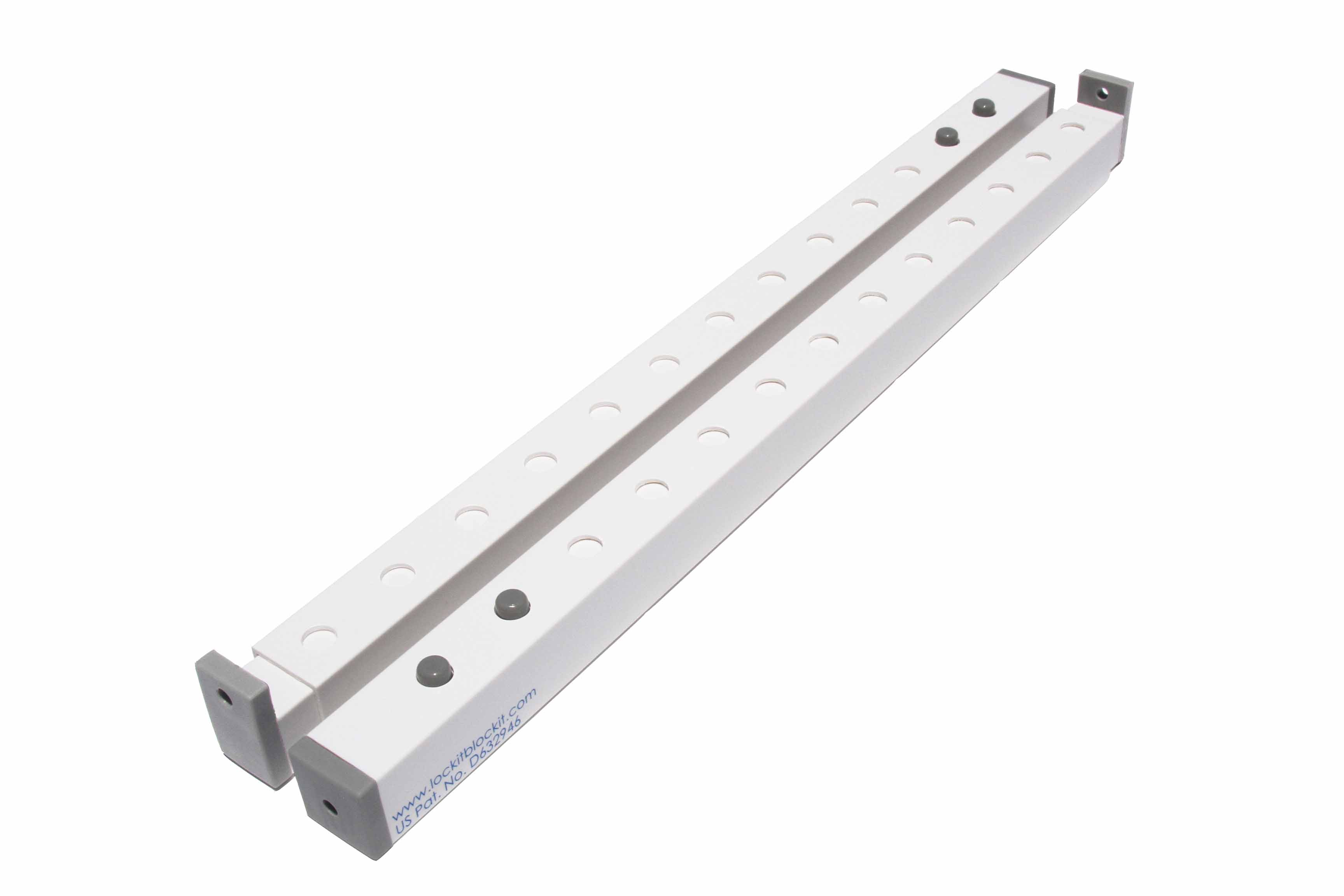 Lock-it Block-it home security burglar bar for upright windows.